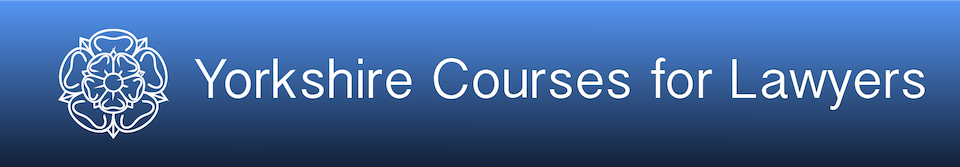 Yorkshire Courses for Lawyers