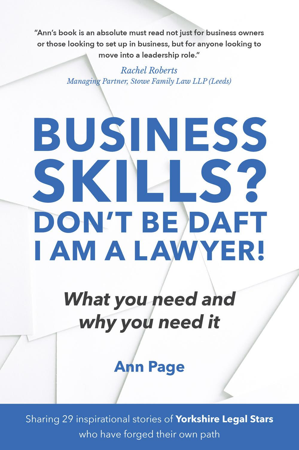 Business Skills? Don't be daft I am a lawyer - must read book for lawyers