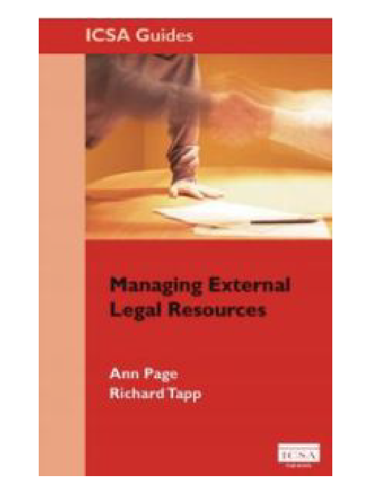 Managing External Legal Resources book