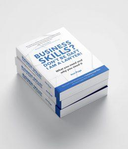 Pile of the book, Business Skills? Don't be Daft I am a Lawyer
